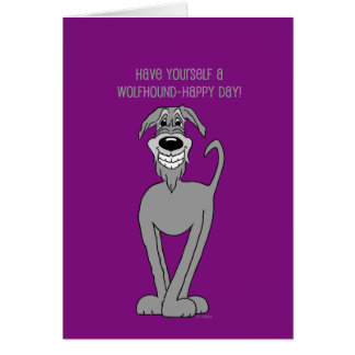 Irish wolf Smile Card