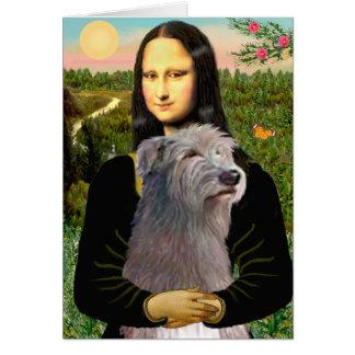 Irish Wolfhound 1 - Mona Lisa Card