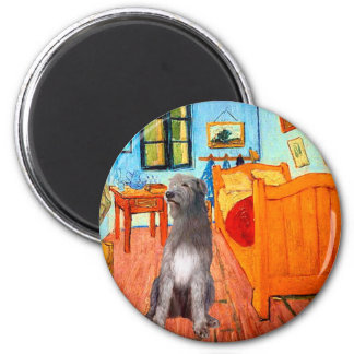 Irish Wolfhound 1 - Room at Arles 2 Inch Round Magnet