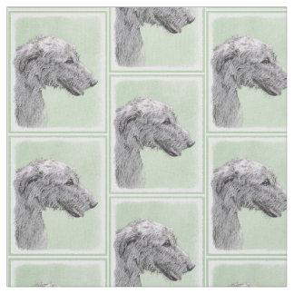 Irish Wolfhound 2 Painting - Cute Original Dog Art Fabric