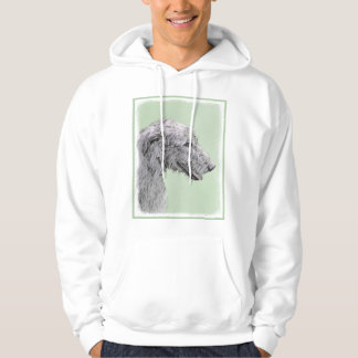 Irish Wolfhound 2 Painting - Cute Original Dog Art Hoodie