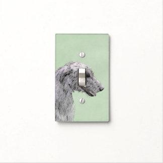 Irish Wolfhound 2 Painting - Cute Original Dog Art Light Switch Cover
