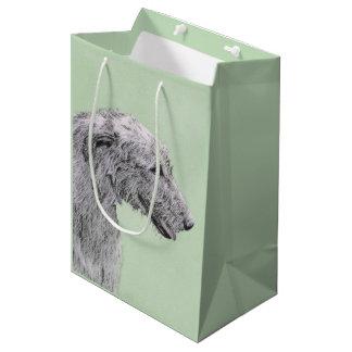 Irish Wolfhound 2 Painting - Cute Original Dog Art Medium Gift Bag