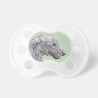 Irish Wolfhound 2 Painting - Cute Original Dog Art Pacifier
