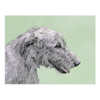Irish Wolfhound 2 Painting - Cute Original Dog Art Postcard