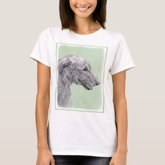 Irish Wolfhound 2 Painting - Cute Original Dog Art T-Shirt