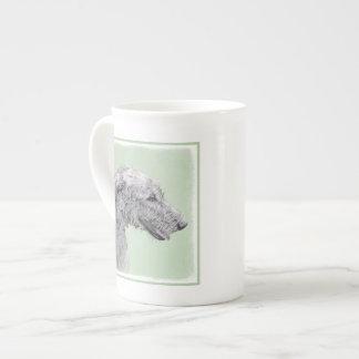 Irish Wolfhound 2 Painting - Cute Original Dog Art Tea Cup