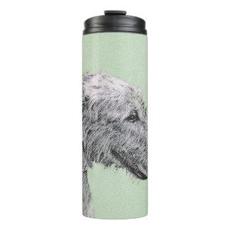 Irish Wolfhound 2 Painting - Cute Original Dog Art Thermal Tumbler