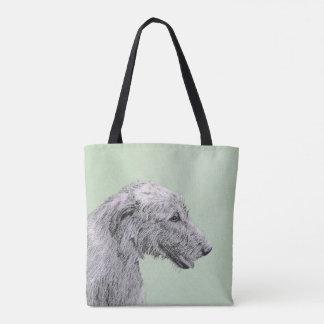 Irish Wolfhound 2 Painting - Cute Original Dog Art Tote Bag