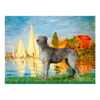 Irish Wolfhound 2 - Sailboats 2 Postcard