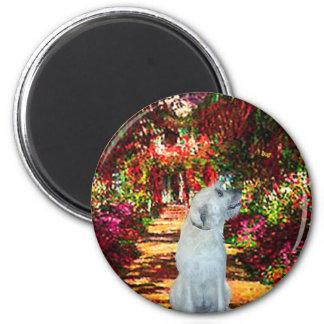 Irish Wolfhound 4 - The Path 2 Inch Round Magnet