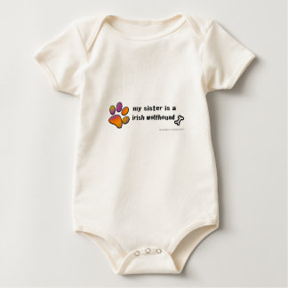 irish wolfhound baby bodysuit
