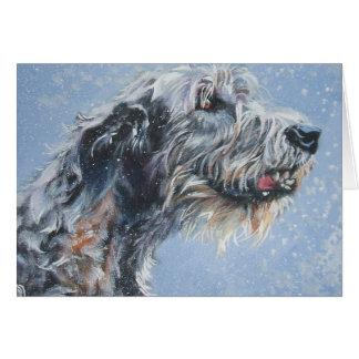 Irish wolfhound Christmas Card