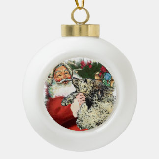 Irish Wolfhound Christmas Ceramic Ball Christmas Ornament