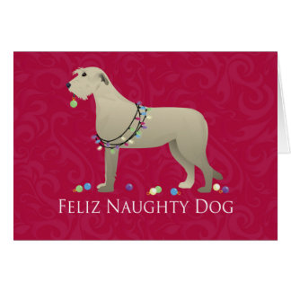 Irish Wolfhound Christmas Design Card