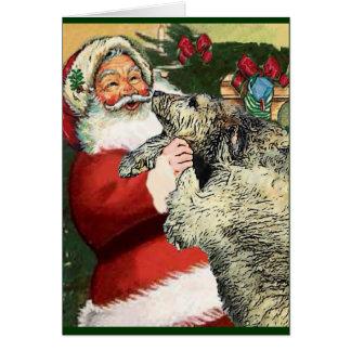 Irish Wolfhound Christmas Gifts Card
