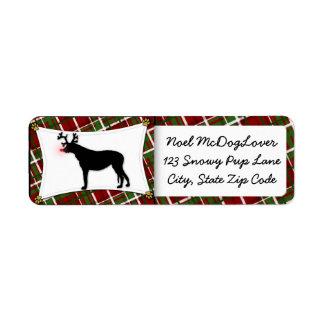 Irish Wolfhound Christmas Return Address Label