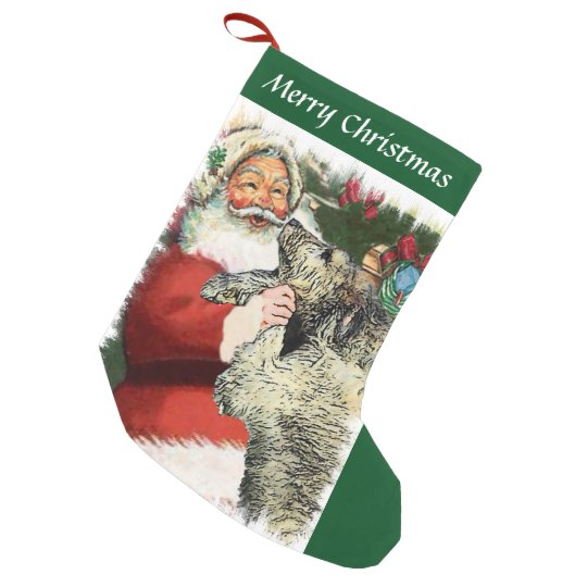 Irish Wolfhound Christmas Small Christmas Stocking