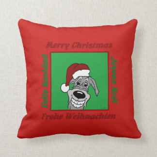 Irish Wolfhound Christmas Throw Pillow