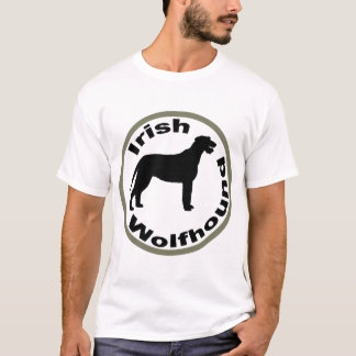 Irish Wolfhound Circle Border T-Shirt