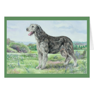 Irish Wolfhound Dog Card