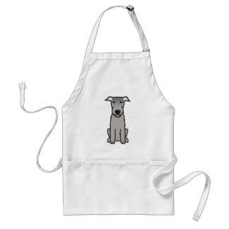 Irish Wolfhound Dog Cartoon Standard Apron