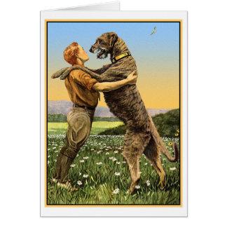 """""""Irish Wolfhound Greeting"""" Card"""
