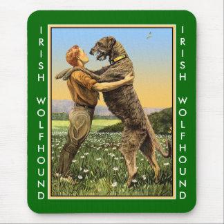 Irish Wolfhound Greeting Mouse Pad