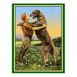 Irish Wolfhound Greeting Postcard