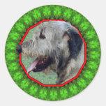 Irish Wolfhound Happy Howliday Sticker
