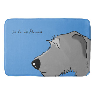 Irish Wolfhound Head Bath Mat
