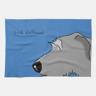 Irish Wolfhound Head Kitchen Towel
