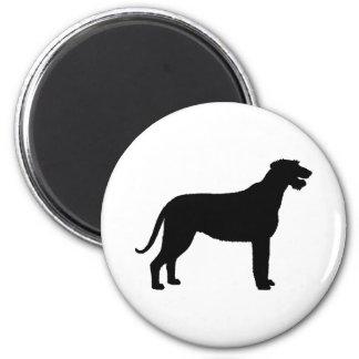 Irish Wolfhound (in black) Magnet