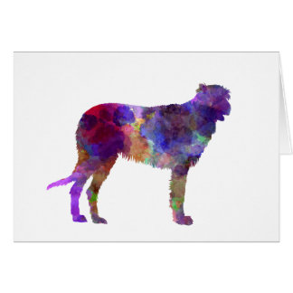 Irish Wolfhound in watercolor Card