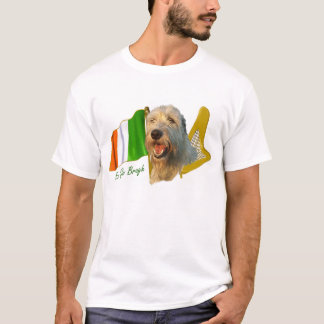 Irish Wolfhound Irish Flag and Harp T-Shirt