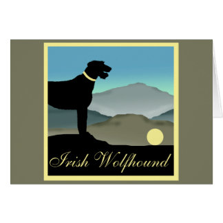 Irish Wolfhound Landscape Card