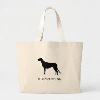 Irish Wolfhound Large Tote Bag