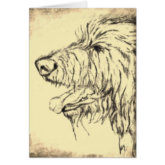 Irish Wolfhound looking pleased Greeting Card