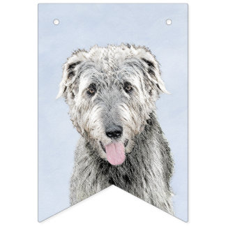 Irish Wolfhound Painting - Cute Original Dog Art Bunting Flags