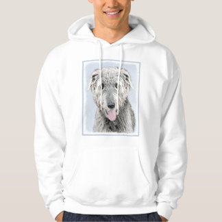 Irish Wolfhound Painting - Cute Original Dog Art Hoodie