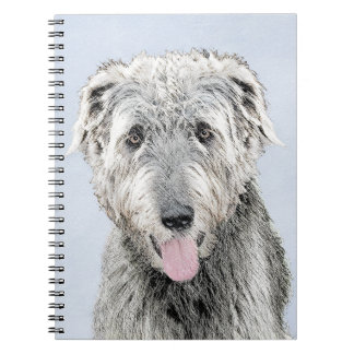 Irish Wolfhound Painting - Cute Original Dog Art Notebook