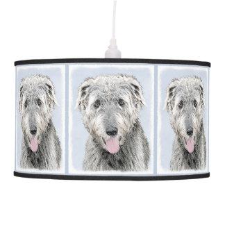 Irish Wolfhound Painting - Cute Original Dog Art Pendant Lamp