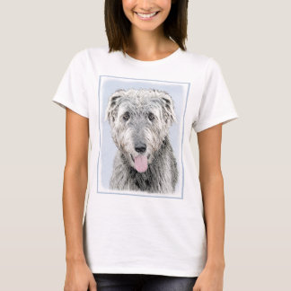 Irish Wolfhound Painting - Cute Original Dog Art T-Shirt