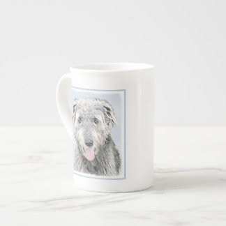 Irish Wolfhound Painting - Cute Original Dog Art Tea Cup