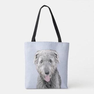 Irish Wolfhound Painting - Cute Original Dog Art Tote Bag