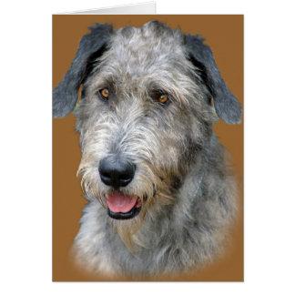 Irish Wolfhound Portrait Card