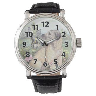 Irish Wolfhound Puppy Dreamer Wristwatch