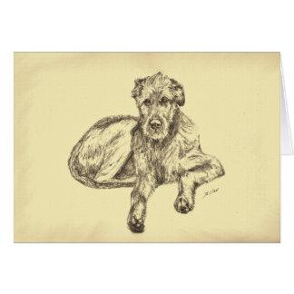 Irish Wolfhound Puppy Greeting Card