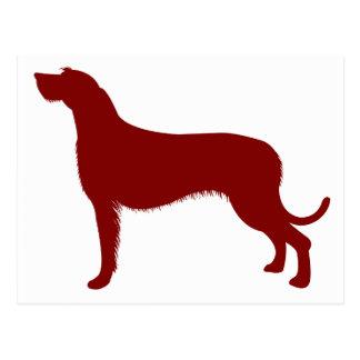 Irish Wolfhound (Red) Postcard
