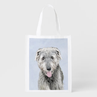 Irish Wolfhound Reusable Grocery Bag